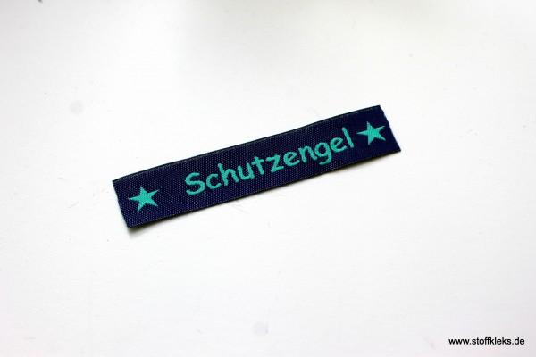 Applikation | Label | Schutzengel | dunkelblau mit petrol | 1,5 cm