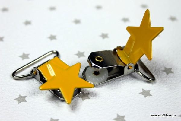 Applikation & Co   Metallclips   Stern   gelb