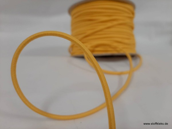 Gummikordel 3mm | Sonnengelb | 10 m