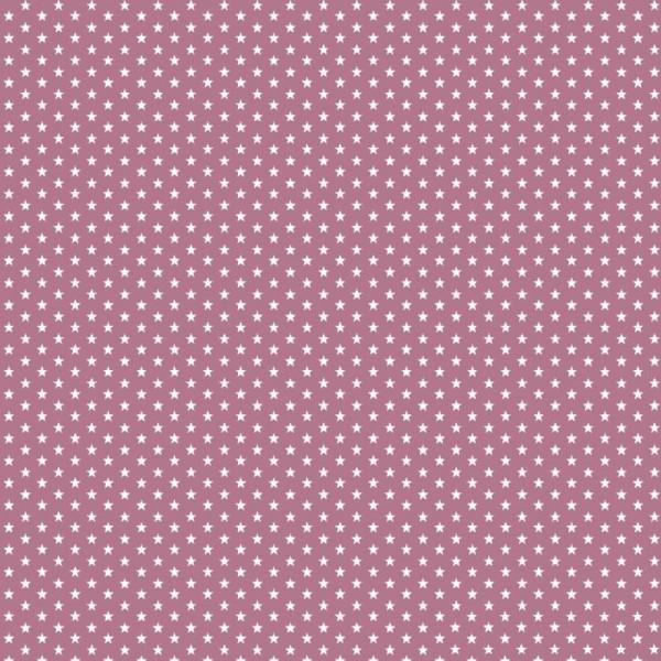 Baumwolle | bedruckt | 4mm little stars | malve