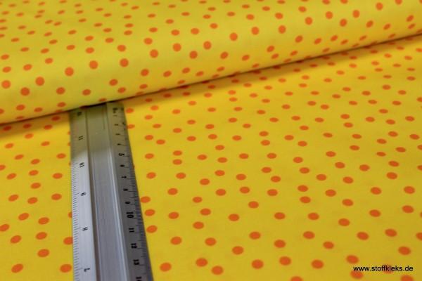 Baumwolle | bedruckt | Punkte | gelb