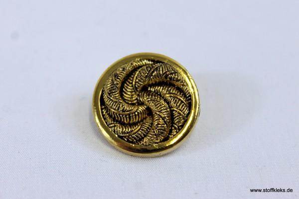 Knopf | Kunststoff | gold | Seilknoten | 1,9 cm