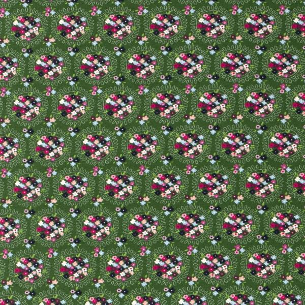 Jersey   bedruckt   Blumenigel-Bouquet   grün