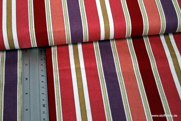Baumwolle | bedruckt | Go stripes | rosa-rot