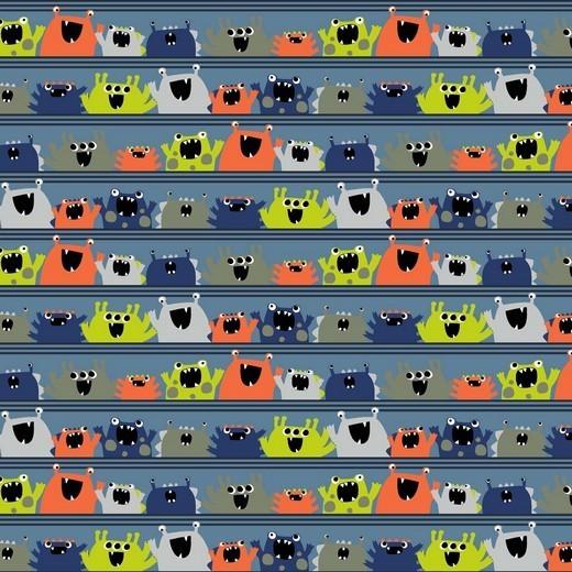 Baumwolle | bedruckt | monsters