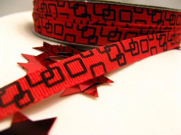 Ripsband | quadratisch | rot