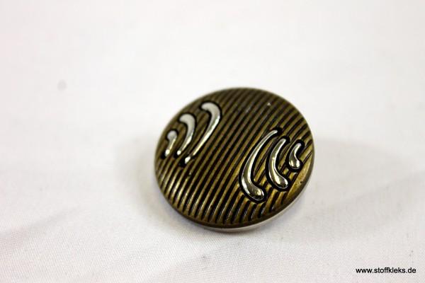 Knopf | Kunststoff | Öse | stripes | 2,3 cm