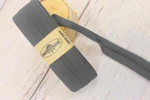 Bias Jersey Schrägband/Einfassband   40 / 20mm   3m   Nr. 106   grau