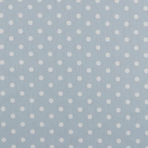 Baumwolle | bedruckt | 8mm Punkte | hellblau/weiss