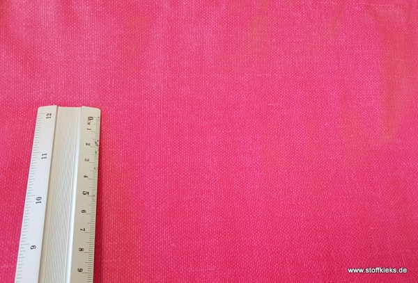Wachstuch/beschichtete Baumwolle | Uni | gedruckte Leinenstruktur | pink