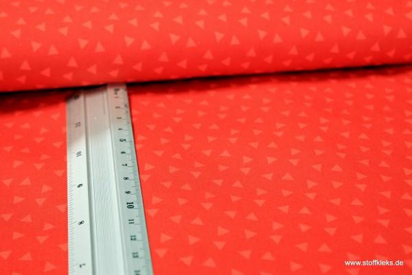 Baumwolle | bedruckt | Dreiecke | rot