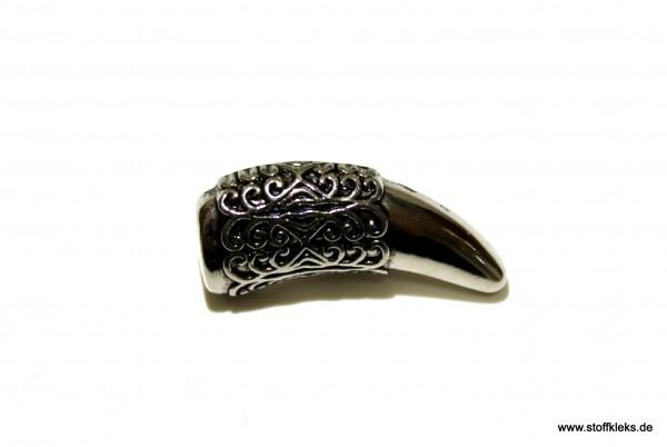 Knopf   Kunststoff   Horn   Silber