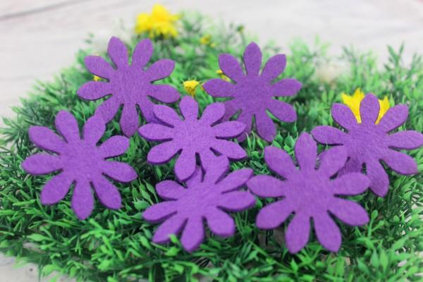 Filzapplikation | Blume | lila | 4cm