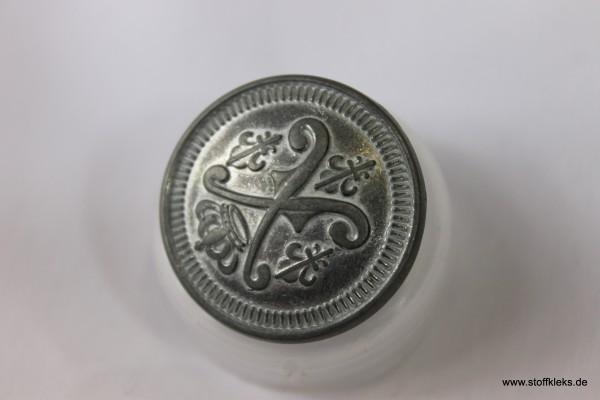 5 Metallknöpfe mit Siegel | Öse | ca 2,8cm