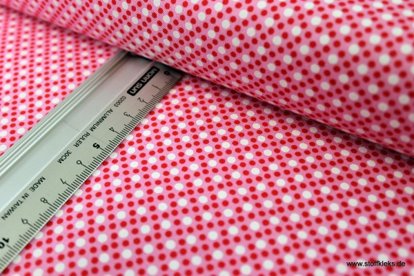 Baumwolle | bedruckt | Michael Miller Fabrics | Patt #CX6322 | Dim Dots | rosa pink