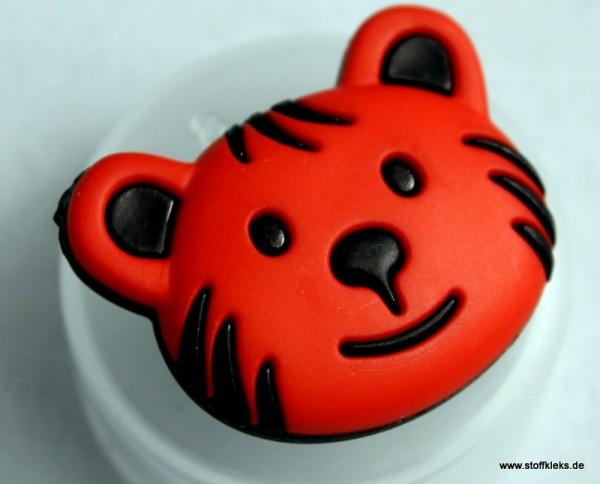 Knopf | Kunststoff | Bär | rot
