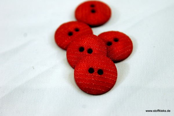 5 Knöpfe | rot | Struktur | 1,6 cm