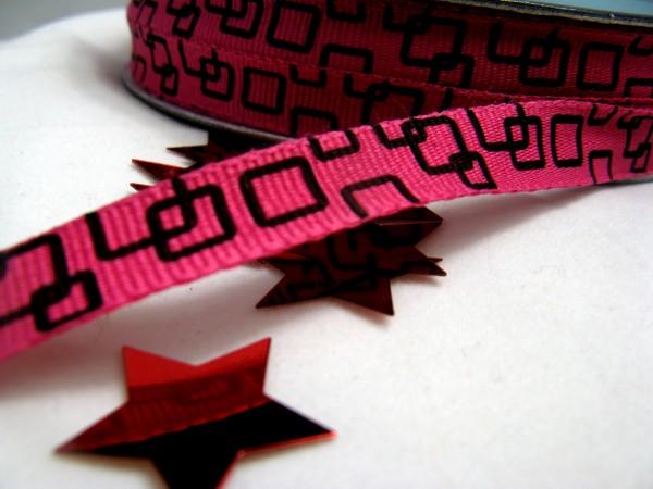 Ripsband | quadratisch | pink