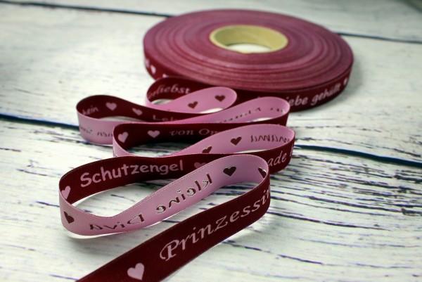 Webband   Worte beere/rosa