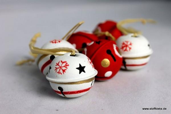 Glöckchen | 6 Weihnachtsglöckchen | Tannenbaumschmuck | Set 2