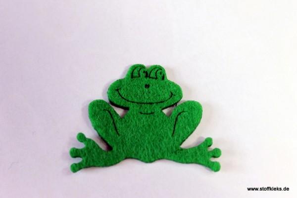 Filzapplikation | Frosch | grün