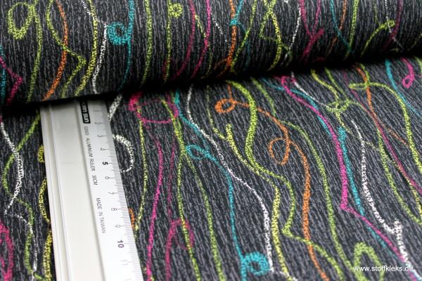 Baumwolle | bedruckt | Michael Miller Fabrics | Pixelisrn | Patt #CJ6819 Ebony Streamers