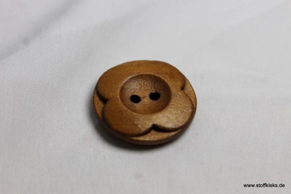Knopf | Holz | aufgesetzte Blume | 2,2 cm