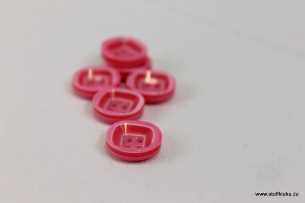5 wunderschöne Kunststoff-Knöpfe | pink | ca 1,3cm