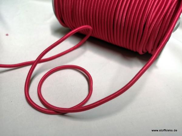 Gummikordel 3mm | pink | 10m