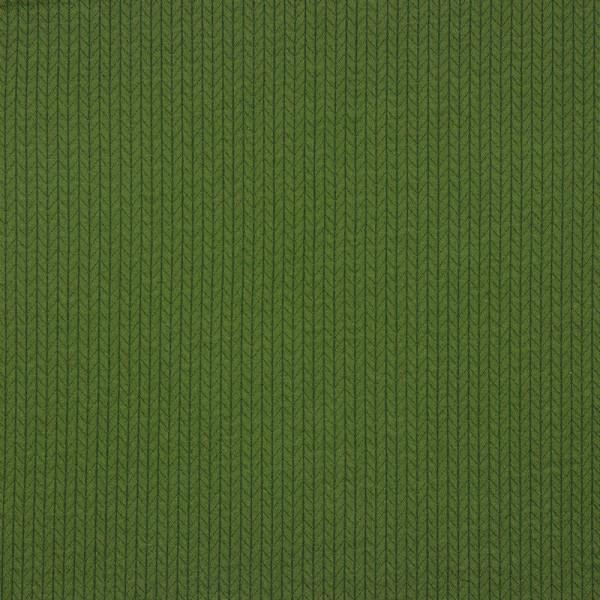 Jersey   bedruckt   recycelte Baumwolle   Strickmuster   khaki