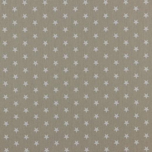 Baumwolle | bedruckt | 10mm Sterne | sand/weiss