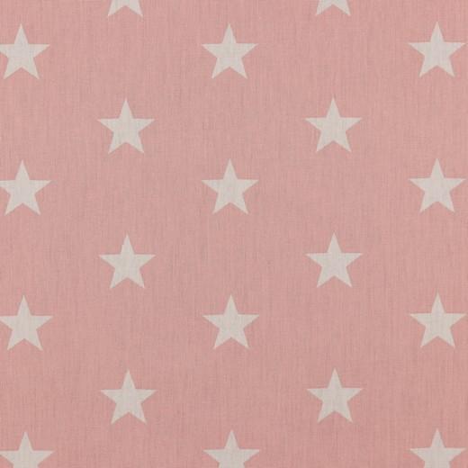 Baumwolle | bedruckt | 3cm Sterne | altrosa/weiss