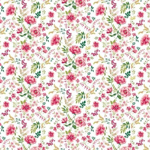 Baumwolle | bedruckt | SWEET FLOWERS | weiss