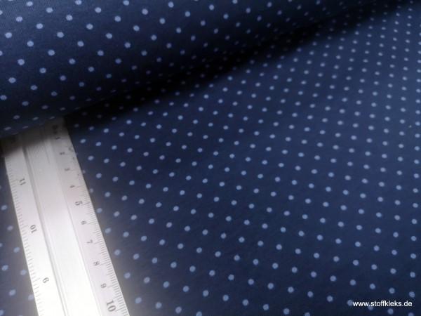 Jersey | bedruckt | 3mm Punkte | dunkelblau/blau