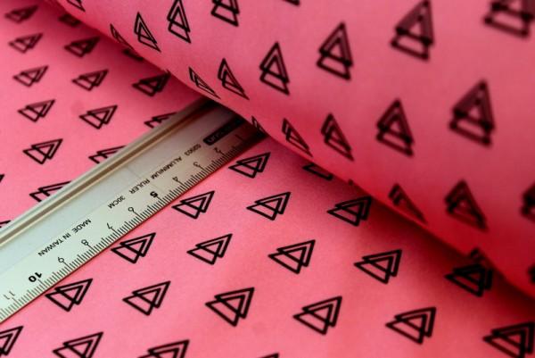 Softshell | bedruckt | pink | black double triangle |