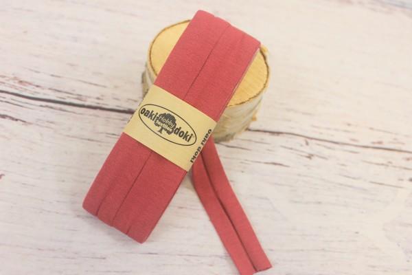 Bias Jersey Schrägband/Einfassband | 40 / 20mm | 3m | Nr. 014 | rosa/rot