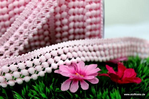 3-fach Mini - Bommelborte   rosa