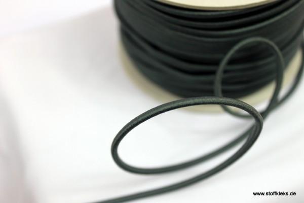 Gummikordel 3mm | schwarz | 10m