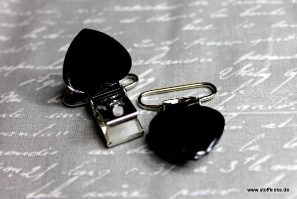 Applikation & Co | Metallclips | Herz | schwarz