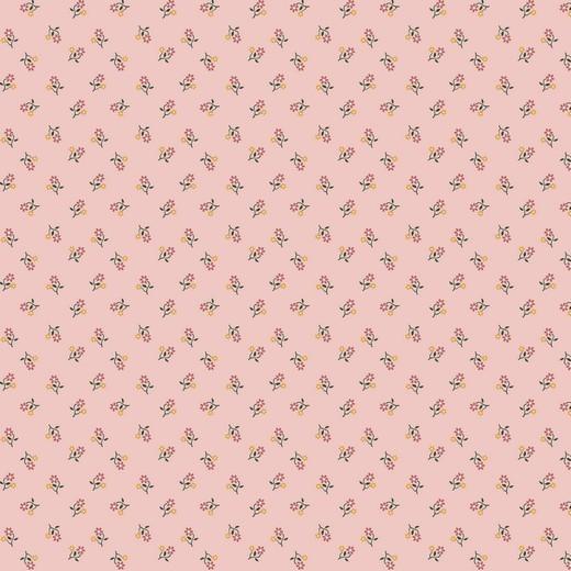Baumwolle | bedruckt | little flowers | rosa