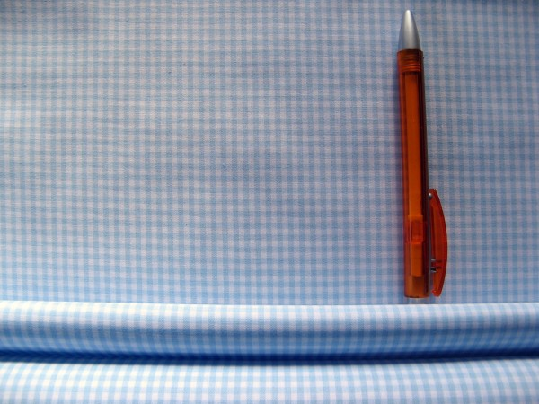 Baumwolle | Vichy | 3mm | hellblau/weiß