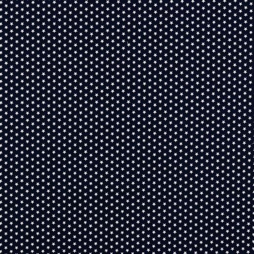Baumwolle   bedruckt   4mm little stars   dunkelblau