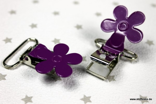Applikation & Co | Metallclips | Blume | lila
