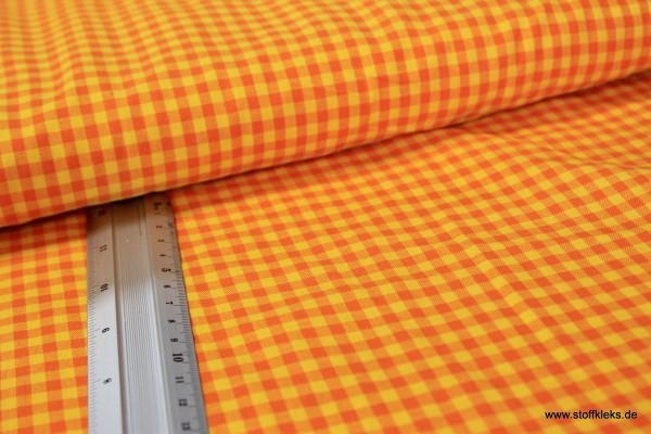 Baumwolle | bedruckt | Karos | orange