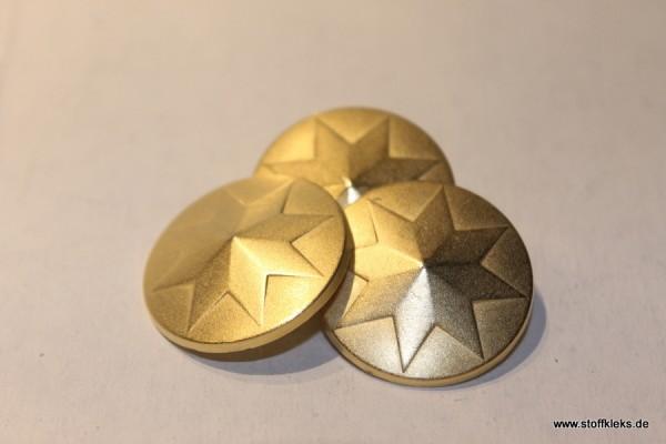 """5 Knöpfe """"Goldstern"""" - mit Öse"""