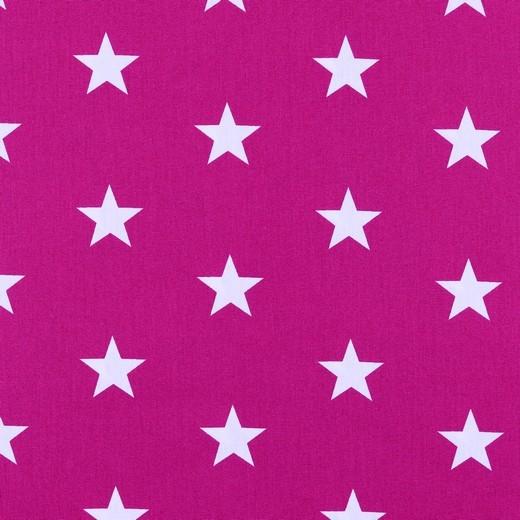 Baumwolle | bedruckt | 3cm Sterne | pink/weiss