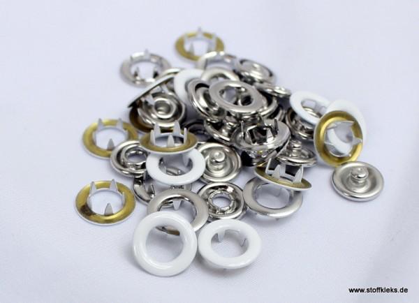 Jerseydrucker   20 Stück   Ringe   weiss