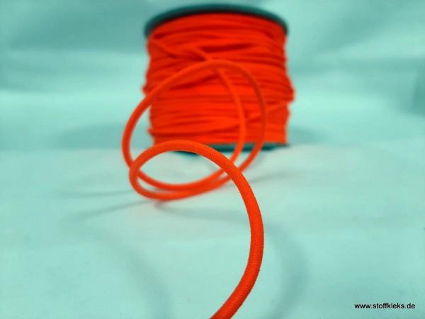 Gummikordel 3mm | neonorange | 10m
