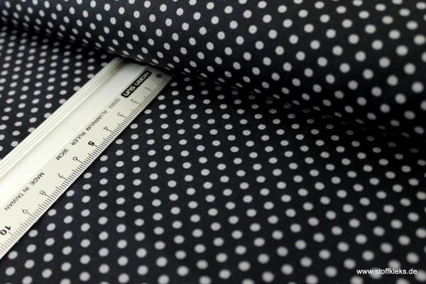 Baumwolle | bedruckt | 3mm Punkte | schwarz/hellgrau
