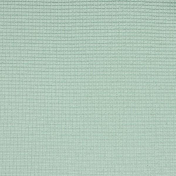Baumwolle | uni | Waffle Piqué | helles mint
